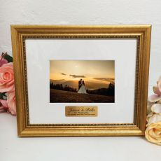 Wedding Photo Frame 4x6 Majestic Gold