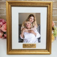 50th Birthday Personalised Frame 5x7 Majestic Gold