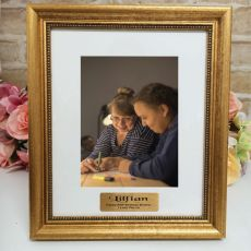 80th Birthday Personalised Frame 5x7 Majestic Gold