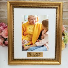 90th Birthday Personalised Frame 5x7 Majestic Gold