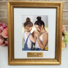 Birthday Personalised Frame 5x7 Majestic Gold