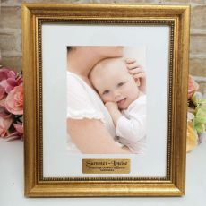 Baptism Personalised Frame 5x7 Majestic Gold