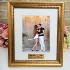Engagement Personalised Frame 5x7 Majestic Gold