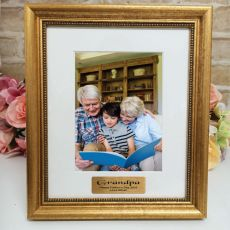 Grandpa Personalised Frame 5x7 Majestic Gold