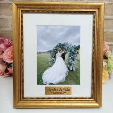 Wedding Personalised Frame 5x7 Majestic Gold