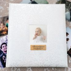 1st Birthday Drymount Photo Album Lace