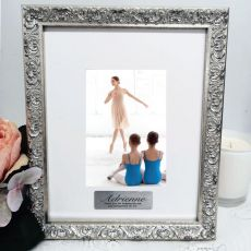 Coach Personalised Ornate Silver Photo Frame Louvre 4x6