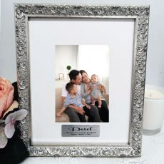 Dad Personalised Ornate Silver Photo Frame Louvre 4x6