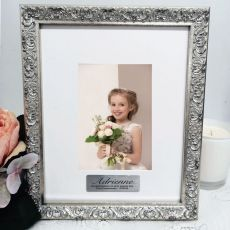 First Communion Personalised Ornate Silver Photo Frame Louvre 4x6