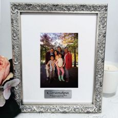 Grandpa Personalised Ornate Silver Photo Frame Louvre 4x6