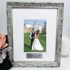 Wedding Personalised Silver Photo Frame Louvre 4x6