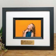 13th Birthday Personalised Photo Frame Silhouette Black 4x6