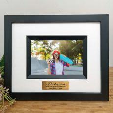 16th Birthday Personalised Photo Frame Silhouette Black 4x6