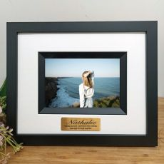 50th Birthday Personalised Photo Frame Silhouette Black 4x6