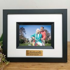 80th Birthday Personalised Photo Frame Silhouette Black 4x6