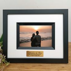 Anniversary Personalised Photo Frame Silhouette Black 4x6