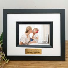 Aunty Personalised Photo Frame Silhouette Black 4x6