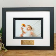 Baby Personalised Photo Frame Silhouette Black 4x6