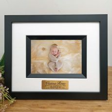 Baptism Personalised Photo Frame Silhouette Black 4x6