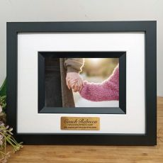 Coach Personalised Photo Frame Silhouette Black 4x6