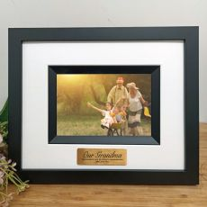 Grandma Personalised Photo Frame Silhouette Black 4x6