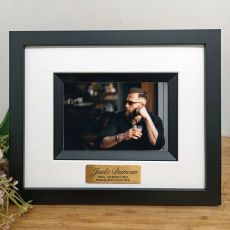 Memorial Personalised Photo Frame Silhouette Black 4x6
