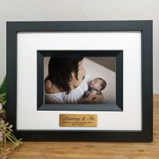 Mum Personalised Photo Frame Silhouette Black 4x6