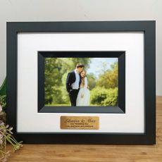 Wedding Photo Frame Silhouette Black 4x6