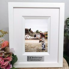 1st Birthday Personalised Photo Frame Silhouette White 4x6