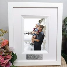 80th  Birthday Personalised Photo Frame Silhouette White 4x6