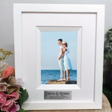 Anniversary Personalised Photo Frame Silhouette White 4x6