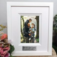Aunty Personalised Photo Frame Silhouette White 4x6