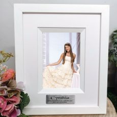 First Communion Personalised Photo Frame Silhouette White 4x6