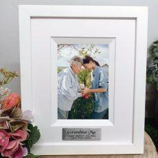 Grandma Personalised Photo Frame Silhouette White 4x6