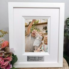 Grandpa Personalised Photo Frame Silhouette White 4x6