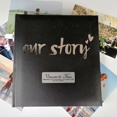 Our Story Personalised Photo Album 200 Photo Black