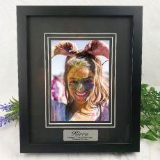 21st Personalised Photo Frame Black Timber Verdure 5x7