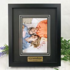 Grandma Personalised Photo Frame Black Timber Verdure 5x7