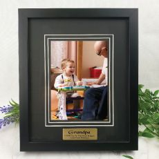 Grandpa Personalised Photo Frame Black Timber Verdure 5x7