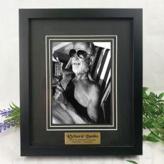 Memorial Personalised Photo Frame Black Timber Verdure 5x7