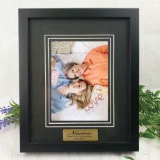 Nan Personalised Photo Frame Black Timber Verdure 5x7