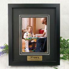 Pop Personalised Photo Frame Black Timber Verdure 5x7