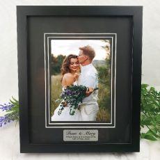 Wedding Personalised Photo Frame Black Timber Verdure 5x7