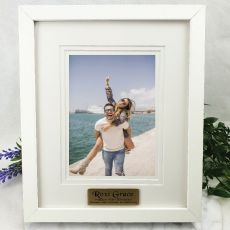 40th Personalised Photo Frame White Timber Verdure 5x7