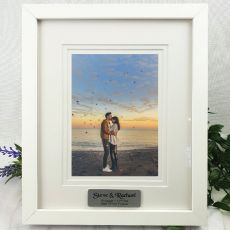 Engagement Personalised Photo Frame White Timber Verdure 5x7
