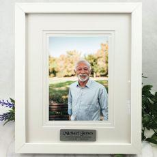 Memorial Personalised Photo Frame White Timber Verdure 5x7