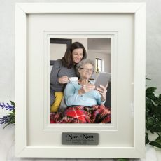 Nana Personalised Photo Frame White Timber Verdure 5x7