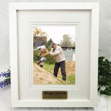 Pop Personalised Photo Frame White Timber Verdure 5x7