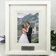 Wedding Personalised Photo Frame White Timber Verdure 5x7
