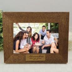 Birthday Teak Photo Frame with Gold Plaque